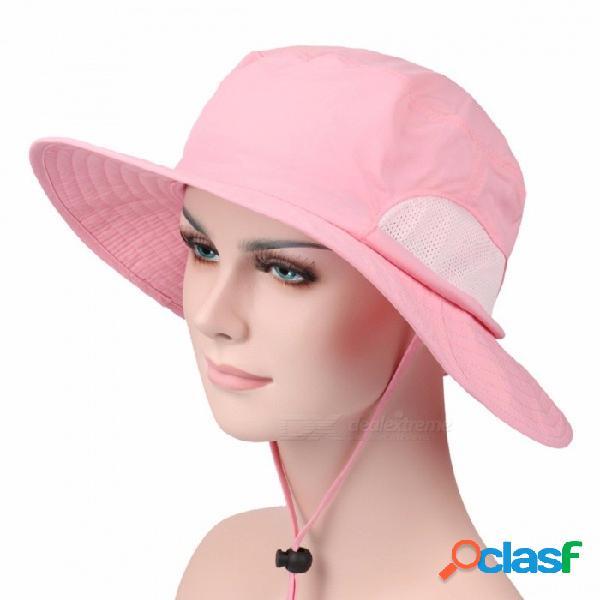 Sombreros de cubo de verano al aire libre de pesca sombrero de ala ancha gorra de protección uv hombres senderismo sombrero gorro al aire libre sombreros verde