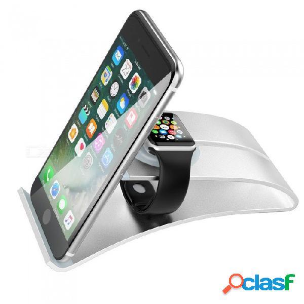 Soporte miimall 3 en 1 para apple iwatch, teléfono móvil y tableta, soporte de carga portátil soporte de soporte para estación de conexión