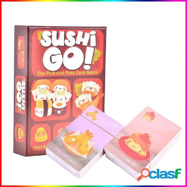 Sushi go / party juego de mesa para la familia / fiesta / regalo mejor regalo divertido juego de cartas, entretenimiento