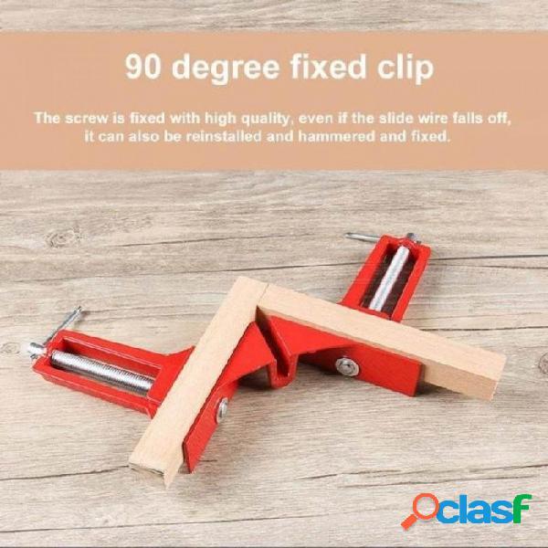 90 grados ángulo recto clip marco de imagen pecera de peces carpintería esquina abrazadera clip de aleación de aluminio herramienta de mano para trabajar la madera 4 unids 4 unids