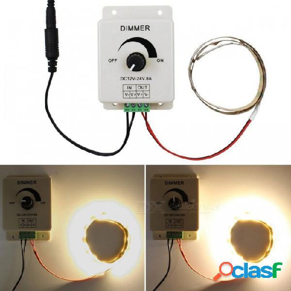 Interruptor del regulador del control de brillo de la luz del solo color led de yenisei, dc 12v-24v 8a