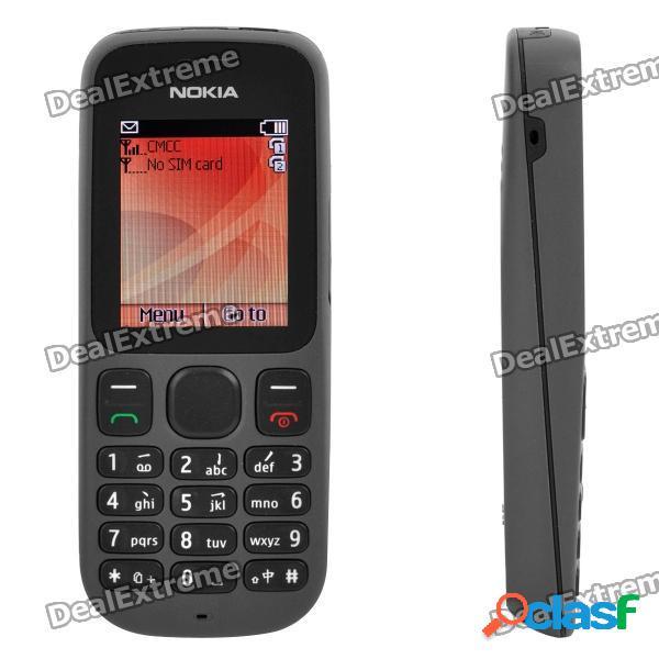 "Teléfono móvil nokia 1010 gsm con pantalla lcd tft de 1.8 "", doble sim, banda dual, fm, reproductor de mp3 y ranura tf - negro"