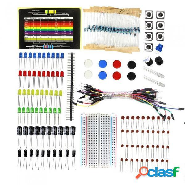 Zhaoyao elecrow starter kit para arduino beginners diy componente kit con resistencia tarjeta pan board partes electrónicas