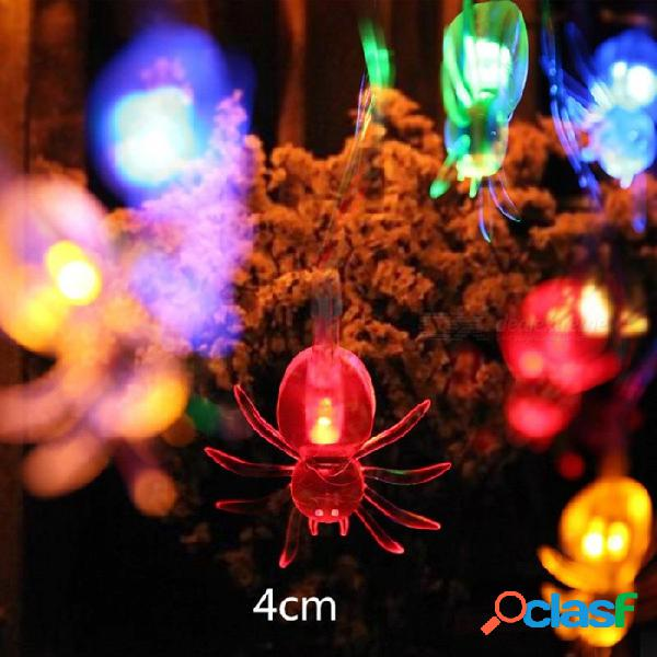 10 led que cuelga las decoraciones de halloween araña led luces de cadena linternas lámpara para el hogar bricolaje fuentes de fiesta al aire libre rgb / 0-5w