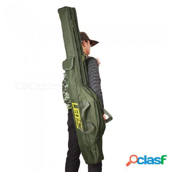 Bolsas plegables para caña de pescar bolsas para pescar 420d funda con cremallera bolsa de almacenamiento de herramientas para palos de pesca portaherramientas aparejos de pesca pesca 100 cm