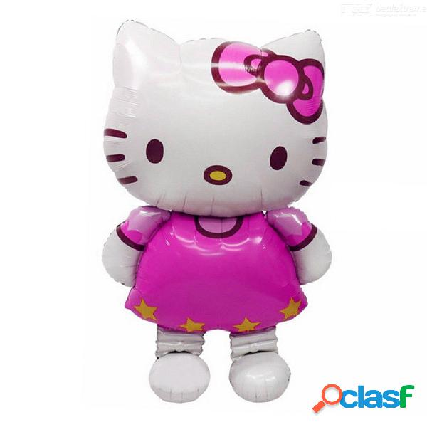 Gran tamaño hello kitty cat foil globo medio de dibujos animados boda cumpleaños fiesta decoración inflable clásico globos de aire