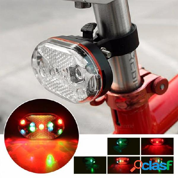 luz de advertencia de la luz trasera biycle bicicleta LED luces de colores bicicleta lámpara de flash MTB bicicleta de carretera luz trasera roja