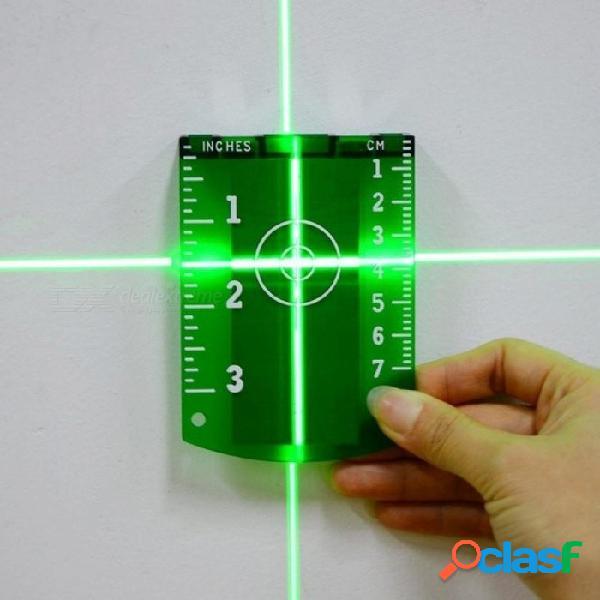 Placa de la tarjeta de la placa del objetivo del láser magnético sin fresas para el nivel del láser rojo verde con color verde 9.8 * 7cm 1pcs verde