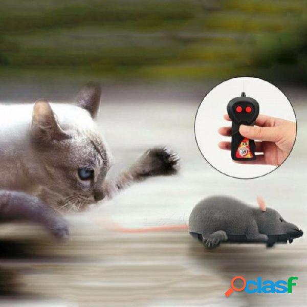 Gato juguete inalámbrico control remoto ratón electrónico rc ratones juguete mascotas mascotas gato juguete ratón para niños juguetes