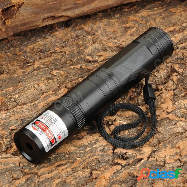 Linterna de puntero láser rojo 850 de 5 mw con enchufe de 2 clavijas planas - negro (1 x 16340 / 1 x cr123a)
