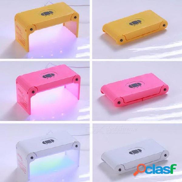 Mini 4w uv led secador de uñas secado rápido iluminación usb carga de energía de uñas máquina de fototerapia de hidrogel herramienta del arte del clavo rosa