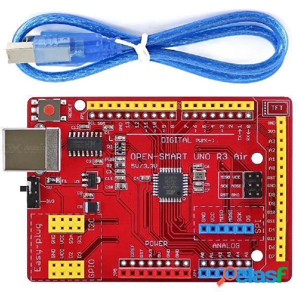 Open-smart fácil de conectar 5v / placa de desarrollo atmega328p compatible con 3.3v uno r3 air para arduino uno r3