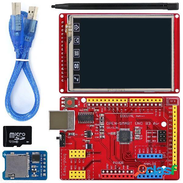 Open-smart kit de módulos de arranque de pantalla táctil lcd de 240 * 320 tft de 2,8 pulgadas con placa de aire uno r3 de fácil conexión para arduino uno r3 / nano