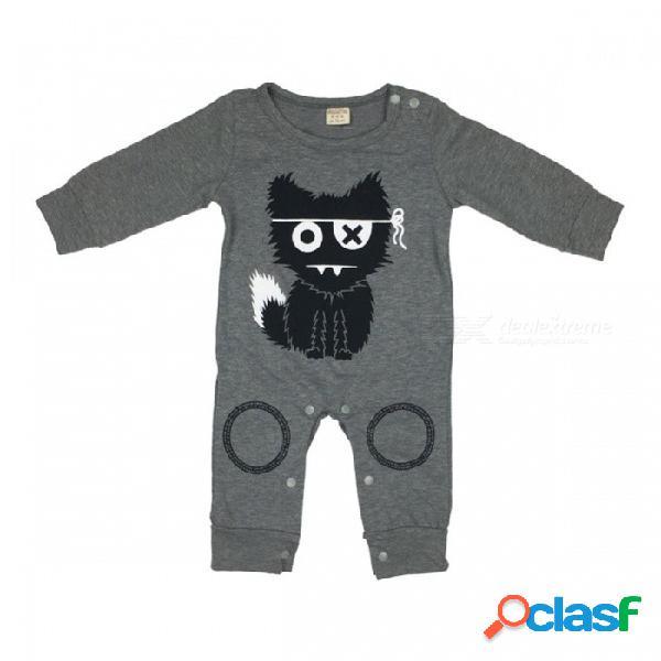 Bebé lindo de los mamelucos del bebé del bebé ropa del bebé recién nacido ropa de niña de manga larga de dibujos animados mono infantil 10-12 meses
