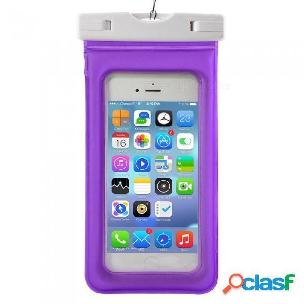 Bolsa impermeable de pvc abs con brazalete para iphone x / iphone 6 plus / 6s plus / 7 plus / 8 plus - púrpura