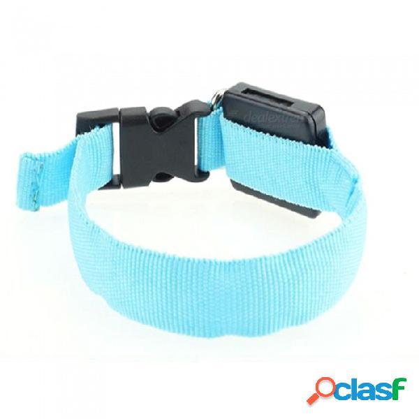 Cuello de perro ajustable que brilla intensamente, collar pequeño de nylon del animal doméstico led collar, producto del animal doméstico del collar del gato