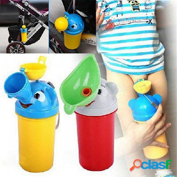 Portátil creativo conveniente viaje lindo bebé urinario niños orinal niño coche inodoro vehicular urinario viaje orina herramienta para niños