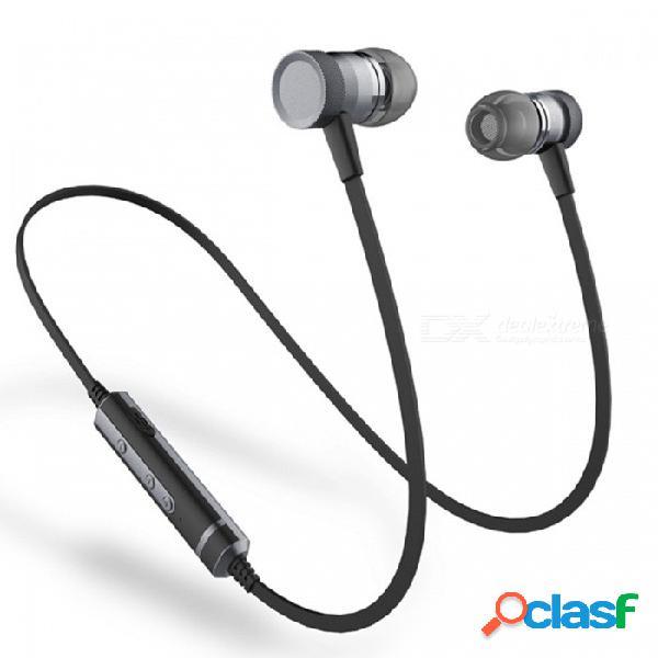 Sonido entono h6 auricular de adsorción magnética bluetooth con micrófono para correr deportes - negro