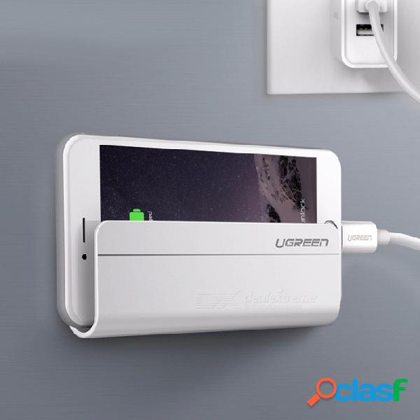 Soporte universal para teléfono móvil para montaje en pared ugreen para iphone 6 5s samsung xiaomi huawei tableta ipad ipad blanco