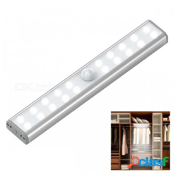 20-led usb recargable led sensor de movimiento luz nocturna, batería recargable incorporada 700 mah - blanco