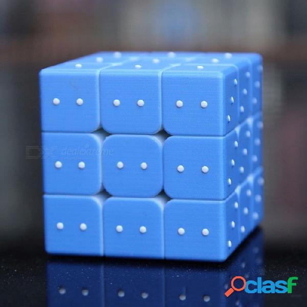 3 x 3 x 3 cubos mágicos rompecabezas rubiks cubo puntos ciegos 3d juguetes educativos regalos para niños ciegos niños cielo azul