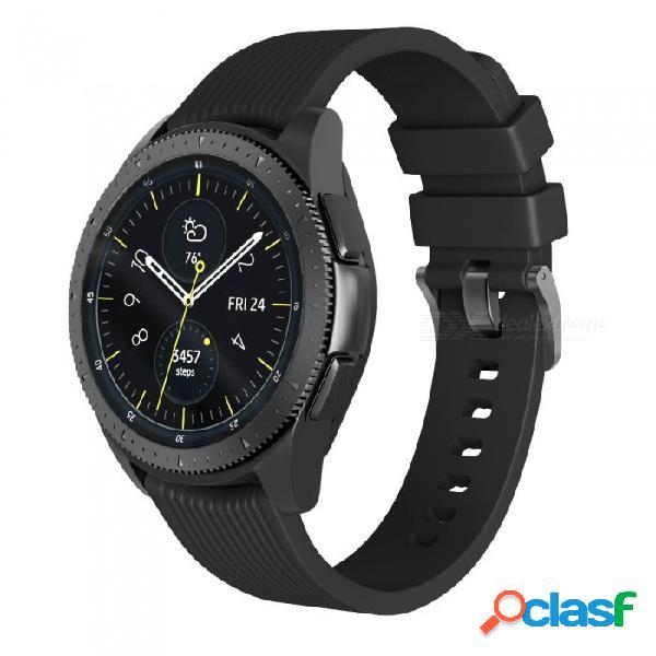 Correa de caucho para samsung gear s3 frontier / correas de reloj de silicona clásicas 22 mm para samsung galaxy watch pulsera de 46 mm