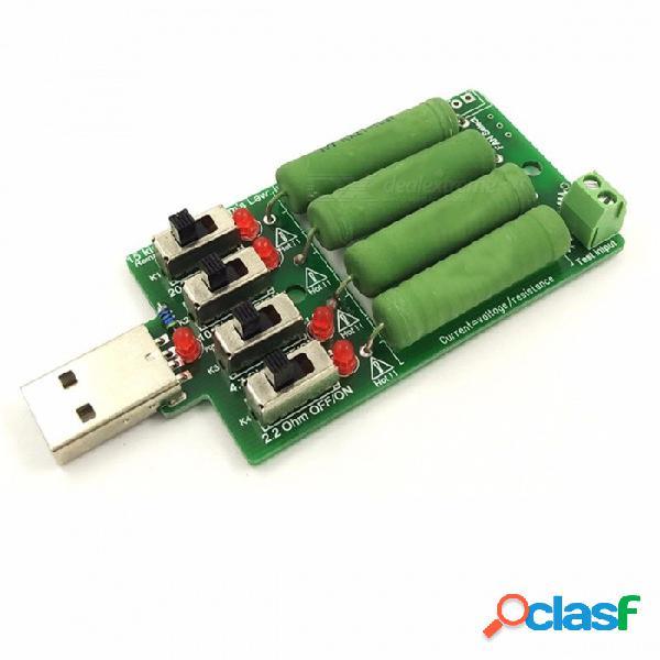 Probador de capacidad de batería industrial usbdc carga electrónica alta resistencia de resistencia de descarga de corriente ajustable 4 tipo corriente verde