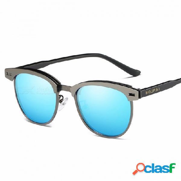 Roupai 0911 nuevas gafas de sol polarizadas para hombres y mujeres, gafas de sol de moda vintage sunglass masculinos gafas de sol femininas c03 azul