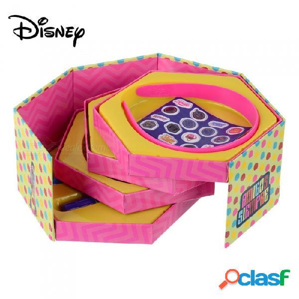 Disney soy luna caja de joyería de cinco capas de dibujos animados lindo, kit de caja de papelería con pluma etc. para niños niños rosa