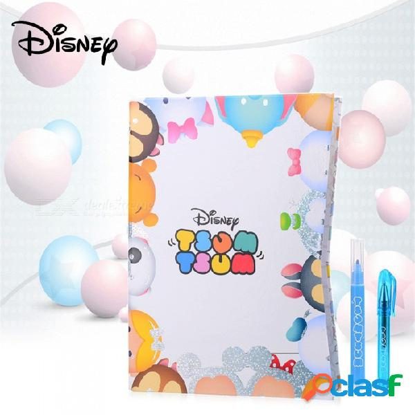 Disney tsum tsum bloc de notas de dibujos animados lindo cuaderno kit con pluma, pegatinas, etc. para niños niños blanco