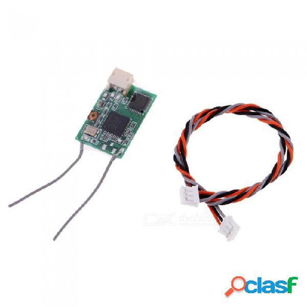 El receptor r601x dsmx dsm2 para el controlador remoto spektrum mini recibe el satélite del sistema completo con el interruptor de frecuencia de alineación drone rc