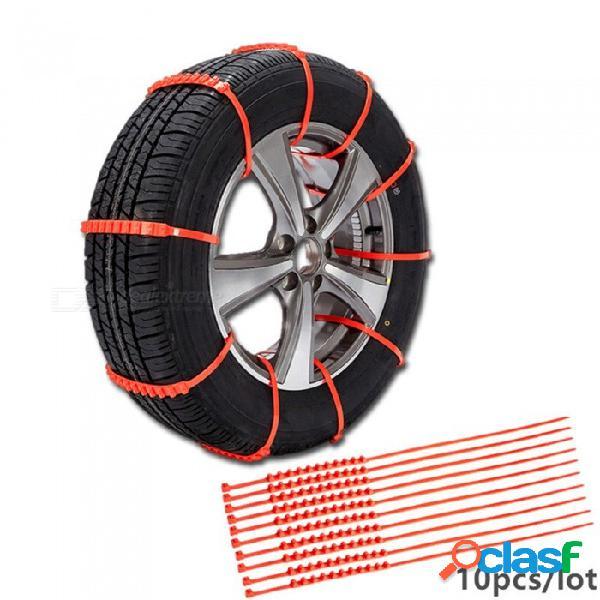 Esamact 10pcs / lot neumáticos de invierno ruedas ruedas cadenas de nieve, cadena antideslizante de plástico engrosado para coches universales / suv / t al aire libre