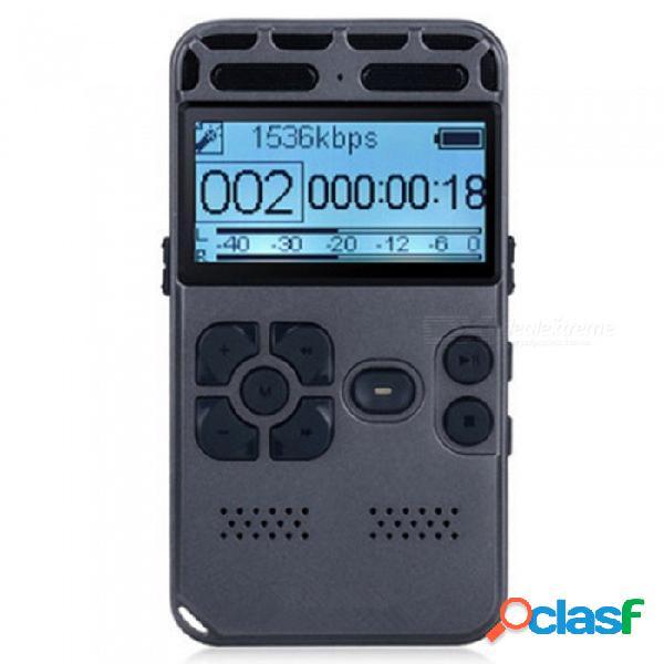 Grabadora digital de voz, dictáfono de audio con sonido de 8gb para reuniones de conferencias, reducción de ruido agc, pcm activado por voz