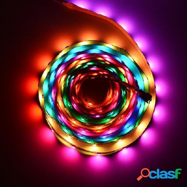 Hml 5m 5v ws2812b fpc 5050 x 150 smd rgb luz de tira del color del sueño led con 14 llaves rf control remoto usb