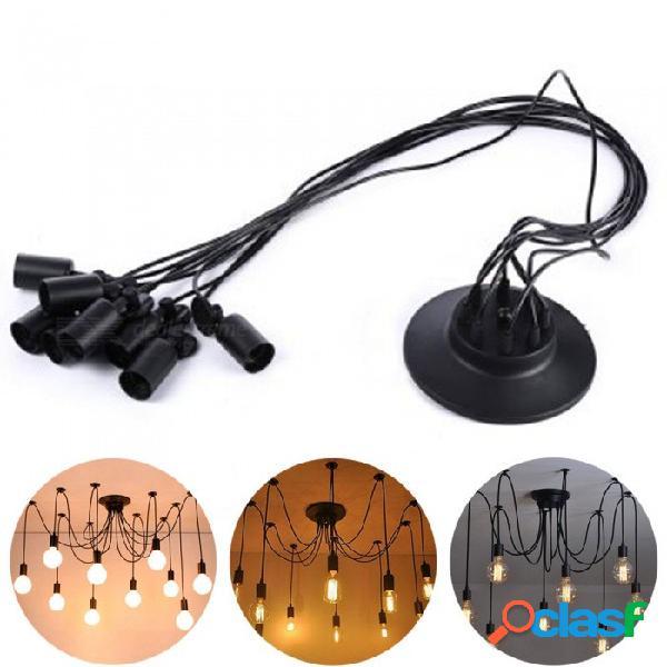 Youoklight ac85 ~ 265v e26 / e27 estilo retro araña colgante de 8 cabezas lámpara colgante para bar sala de estar iluminación del hogar