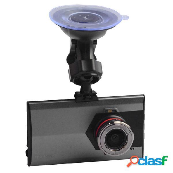 "A8 1080p 3 ""dvr para automóvil con lente de ángulo de visión gran angular de 170 'a + - negro + gris"