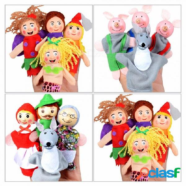 Muñeca de cuento de hadas para bebé infantil, cuentos para dormir, juguete de cognición para niños de felpa suave para niños (4 pcs) amarillo / 0-10cm