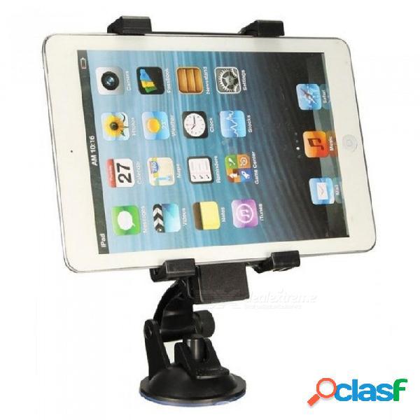 Soporte universal del sostenedor del soporte del teléfono móvil de la tableta del succión del parabrisas del coche universal para el ipad / iphone / samsung 6.5-14cm ancho negro