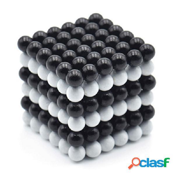 216 juguete del rompecabezas del cubo de bricolaje para la activación del cerebro - en blanco y negro +