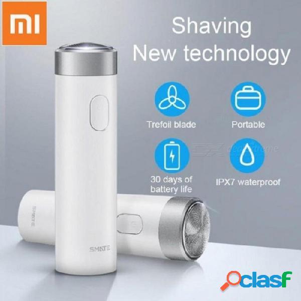 Afeitadora eléctrica xiaomi smate para hombres afeitadora de turbina recargable afeitadora de barba a prueba de agua con indicador de carga de oro