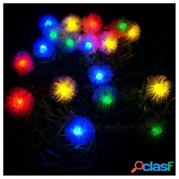 Bola de nieve al aire libre luces de hadas al aire libre para jardín exterior camping patio fiesta navidad colorido color a