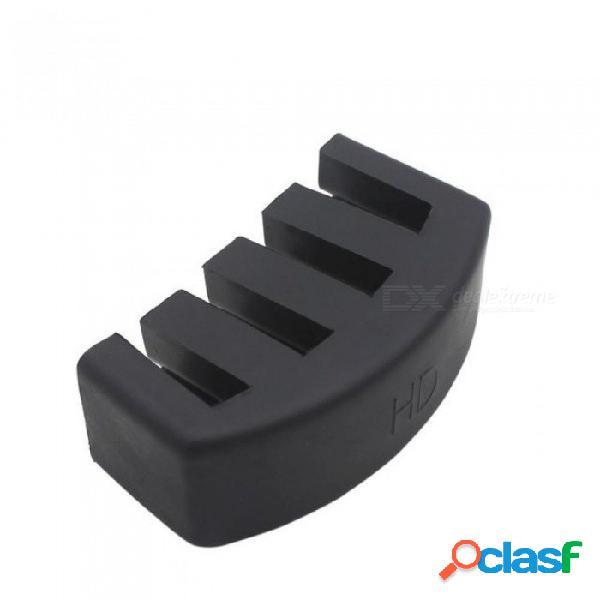 Práctica de material de caucho 5 garras silenciador para control de volumen de cello tamaño 4/4 con color negro 7,1 cm negro