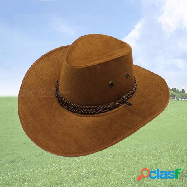 Sombrero de playa de ala ancha unisex sombrero de paja abatible plegable sombrero de sol sombrero de hombre occidental