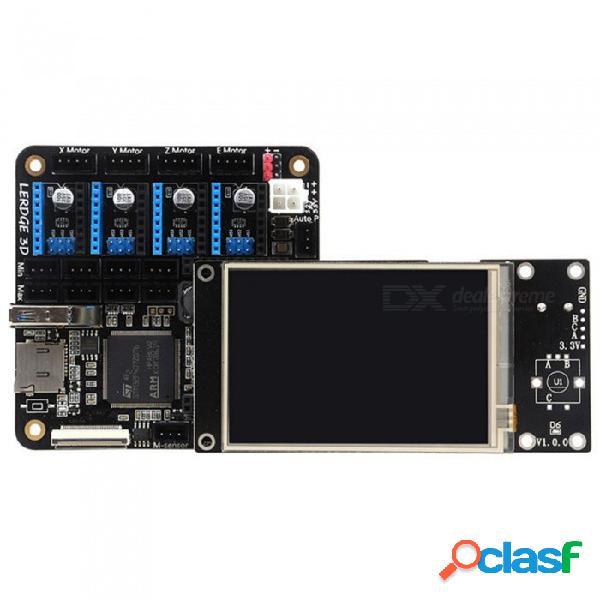 "Tablero de controlador de impresora 3d para placa base de impresora 3d reprap con control de placa base arm de 32 bits, pantalla táctil de 3.5"""