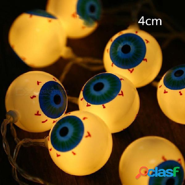 10 led 1.2m halloween eyeball led luces de cadena alimentado por batería para interiores de halloween fiestas decoraciones para el hogar rgb / 0-5w