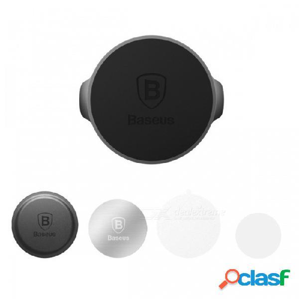 Baseus small ears series soporte magnético del tablero de instrumentos del coche soporte giratorio de 360 grados para teléfonos - negro (tipo plano)