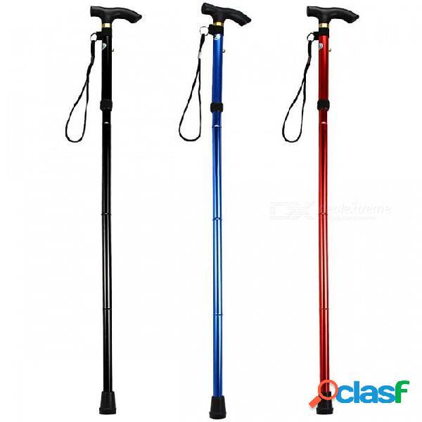 Bastón de aleación de aluminio de 5 colores ultraligeros bastones para caminar altura ajustable y base de goma antideslizante bastón para caminar