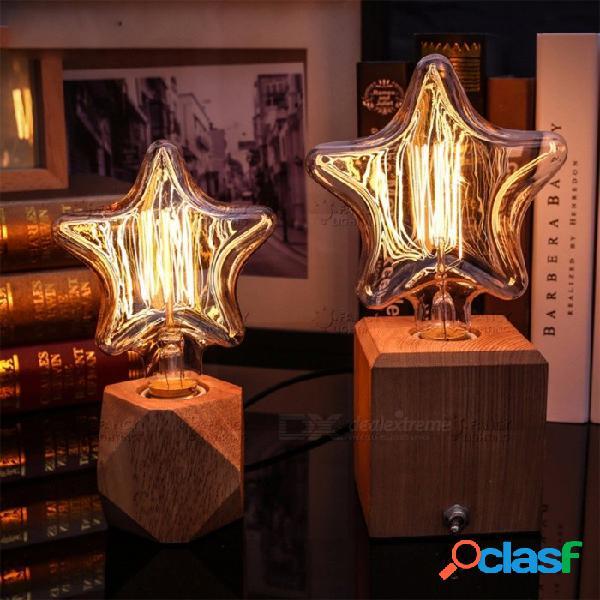 Luz interior decorativa vintage e27 estrella bombilla incandescente estilo de llama retro bombilla 110 v 220 v luz de navidad para la decoración casera 220 v / 150 x 180 gran estrella