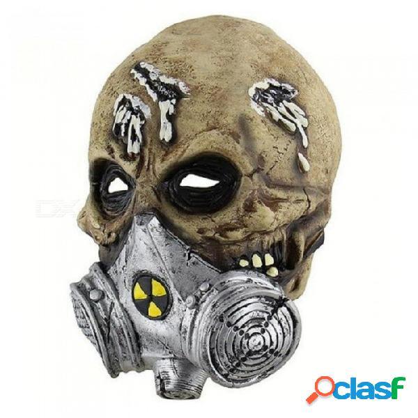 Software cara máscara de látex máscara de terror máscara de gritos cadáveres cabeza máscara de miedo sangrienta traje cosplay máscara de defensa de gas a