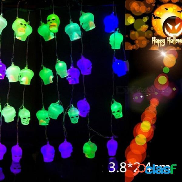 10 led colgante de halloween decoración calabazas cráneo led luces linternas lámpara para diy decoración para el hogar / fiesta al aire libre rgb / 0-5w